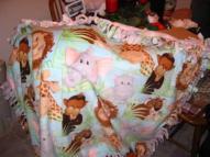 Jungle Fever tie blanket